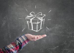 leren als cadeau