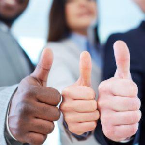 thumbs up voor werkplekleren