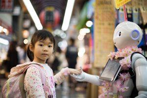 Robot kleurt WereldLeertDoor